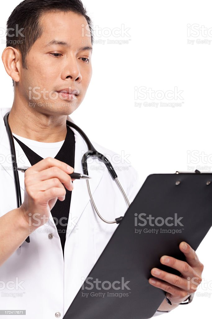 Serious Doctor royalty-free stock photo