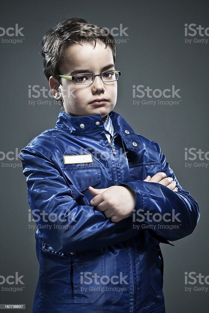 Serious elegant boy. royalty-free stock photo