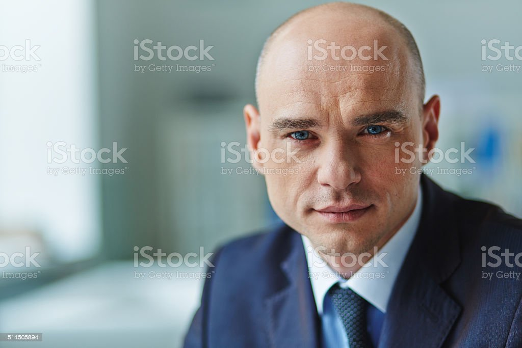 Serious expression stock photo