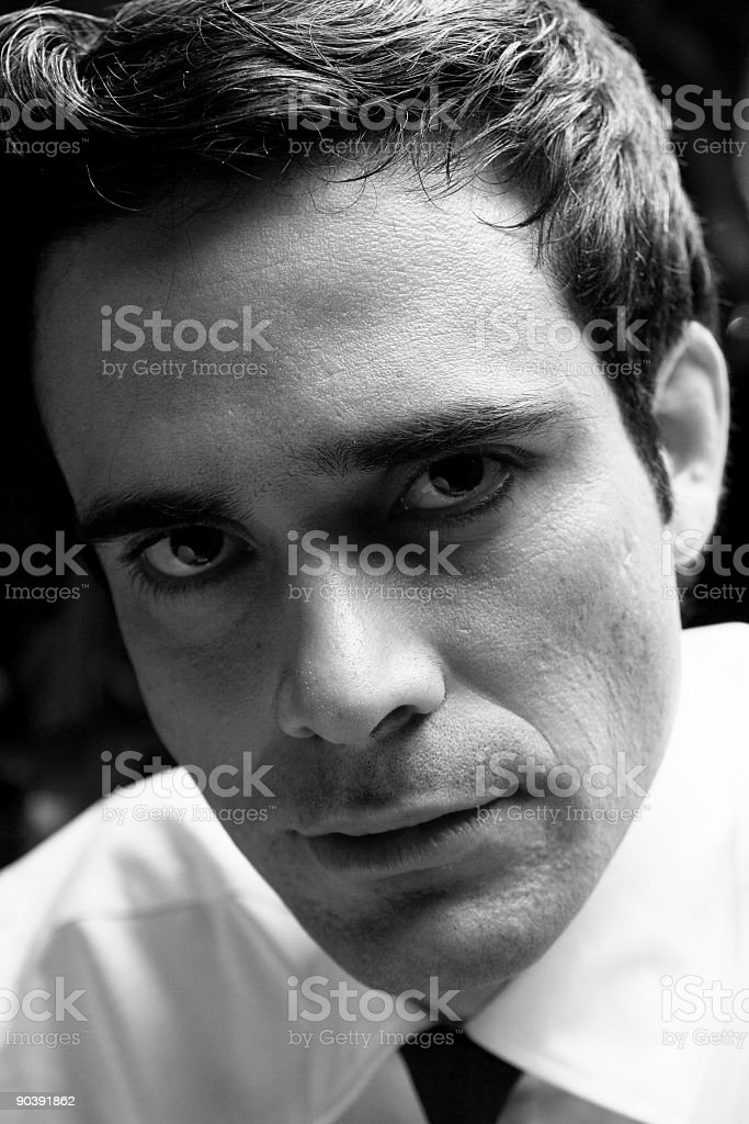 serious face royalty-free stock photo