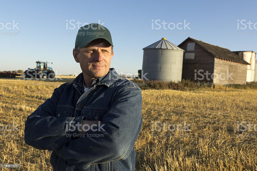 Serious Farm Business royalty-free stock photo