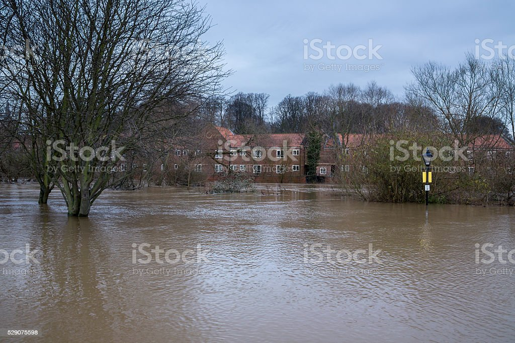 Serious Flooding - Yorkshire - England stock photo