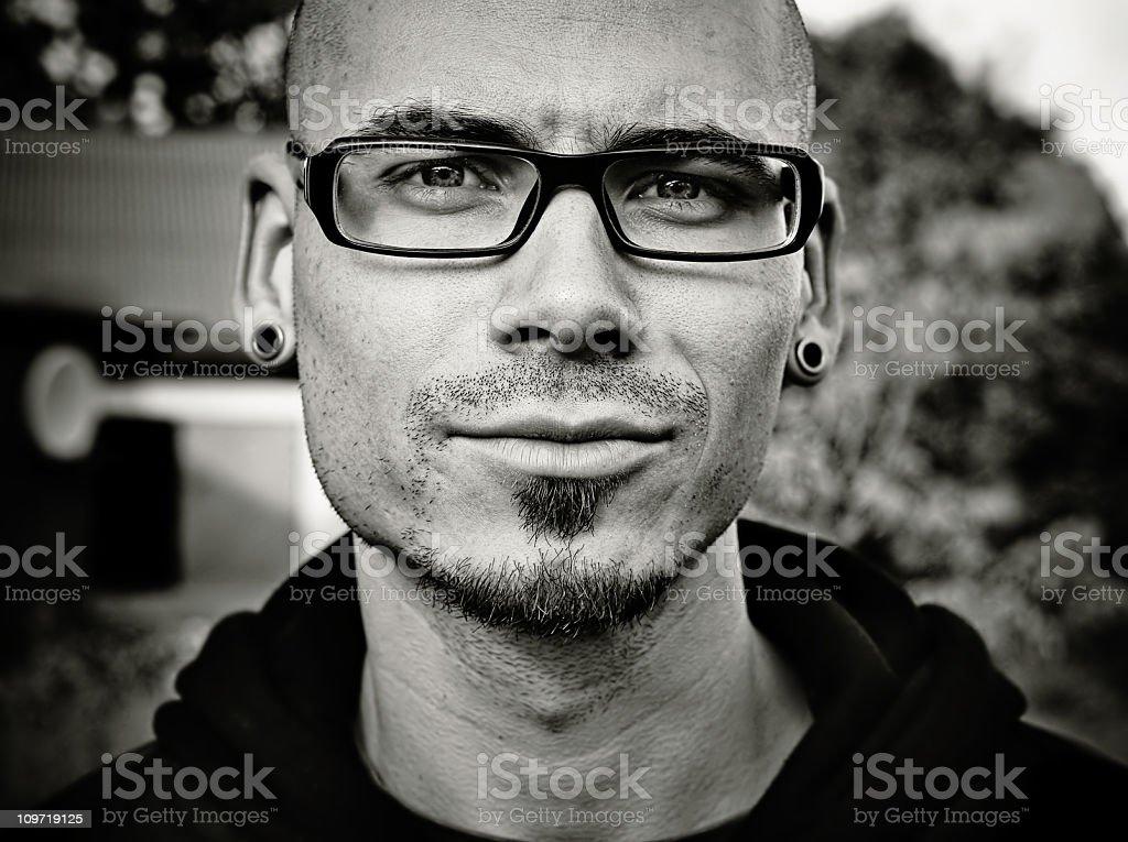 Serious guy royalty-free stock photo
