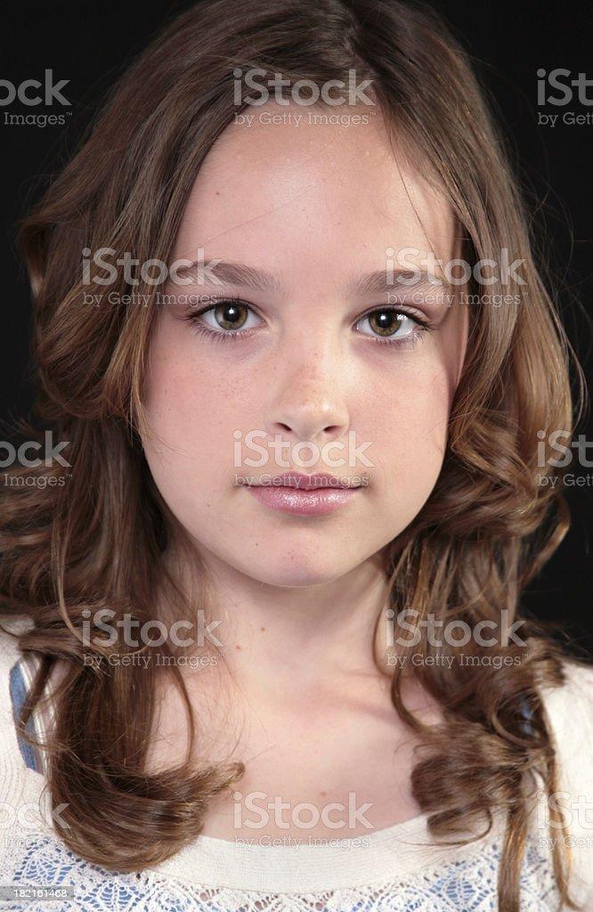 Serious Headshot stock photo