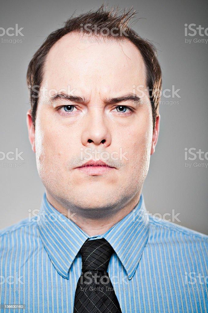 Serious High Key Portrait stock photo