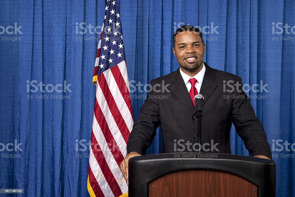 Serious Lecture stock photo