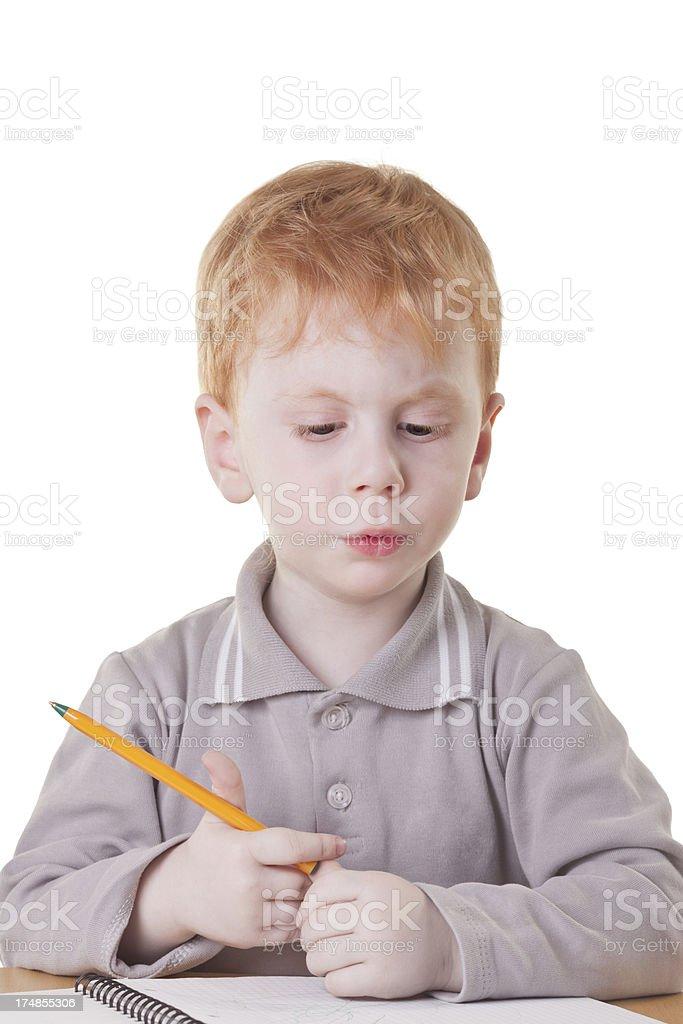 Serious little boy royalty-free stock photo
