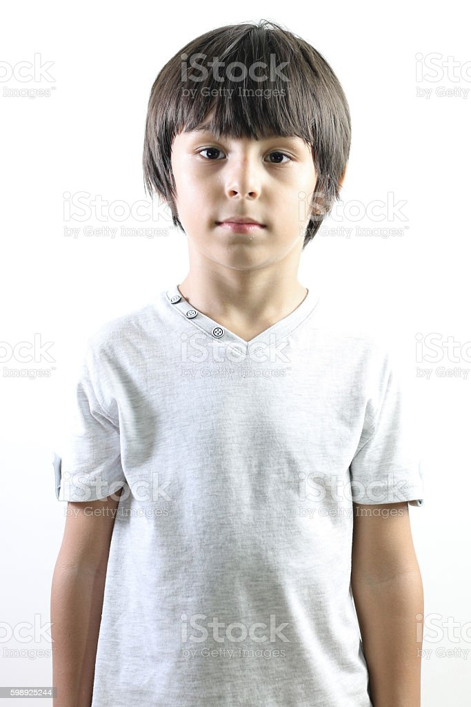 Серьезные маленький мальчик Стоковые фото Стоковая фотография