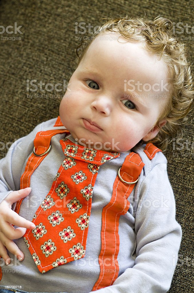 serious little business man royalty-free stock photo