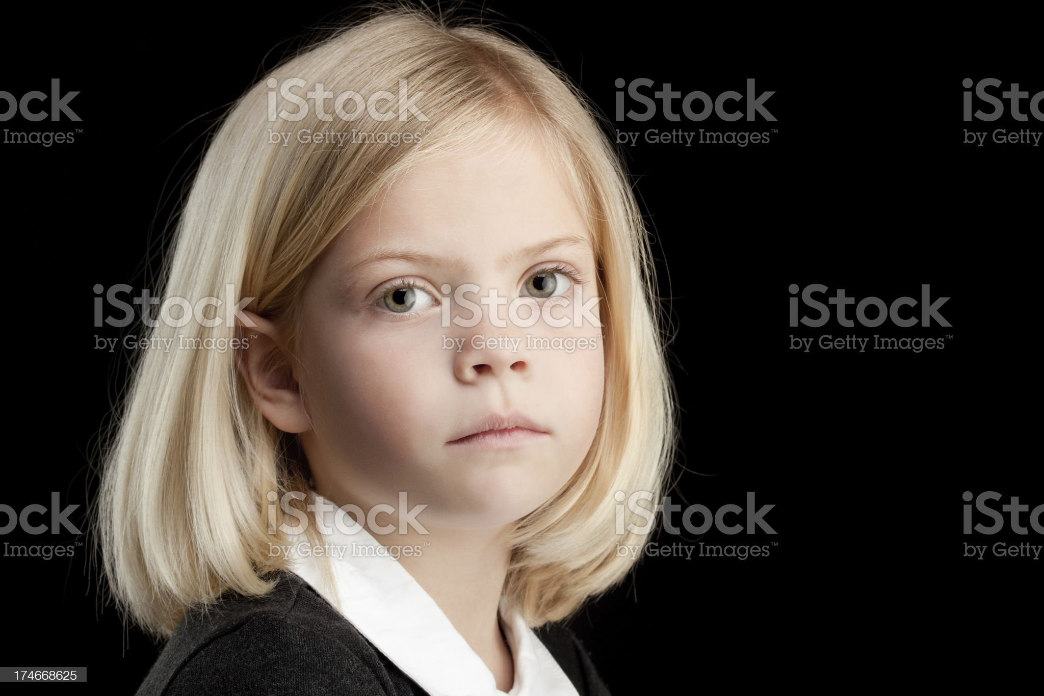 Serious Little Girl royalty-free stock photo