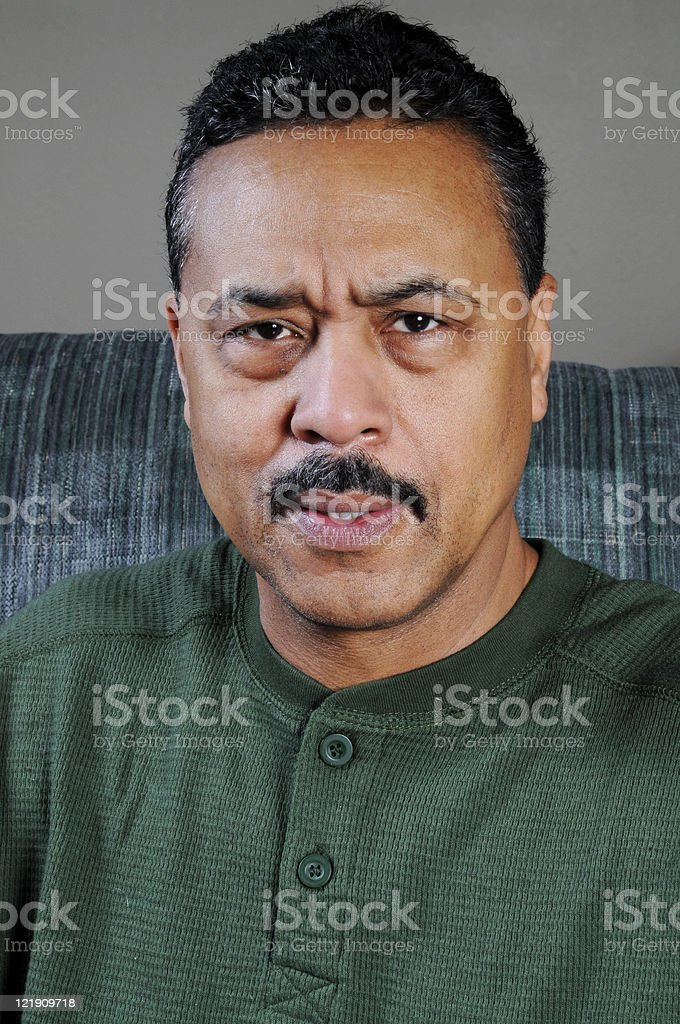 Serious Looking African American Man royalty-free stock photo