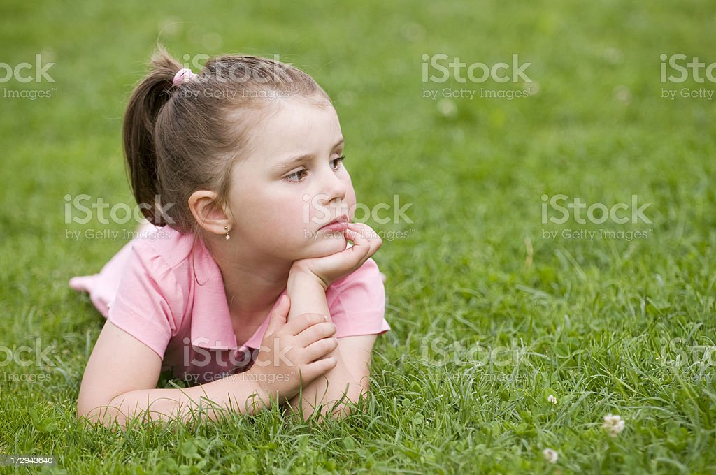 serious looking young girl royalty-free stock photo