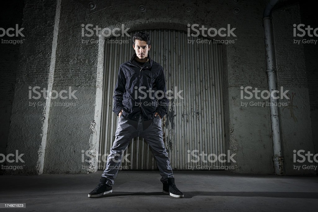 serious looking young man royalty-free stock photo