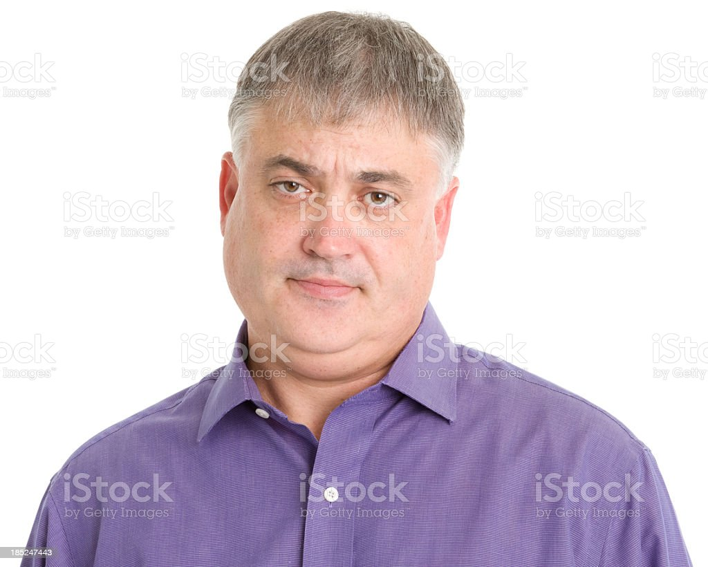 Serious Man Headshot royalty-free stock photo