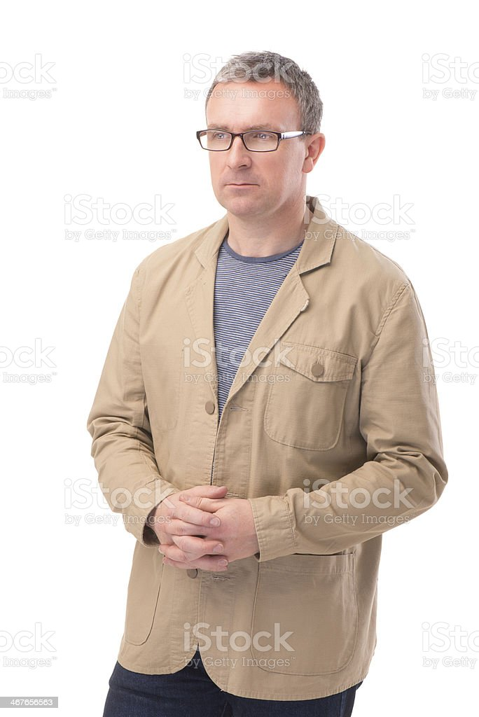 serious man isolated stock photo