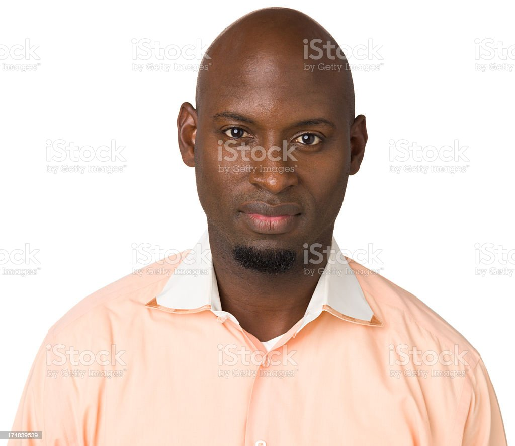 Serious Man Looking At Camera royalty-free stock photo
