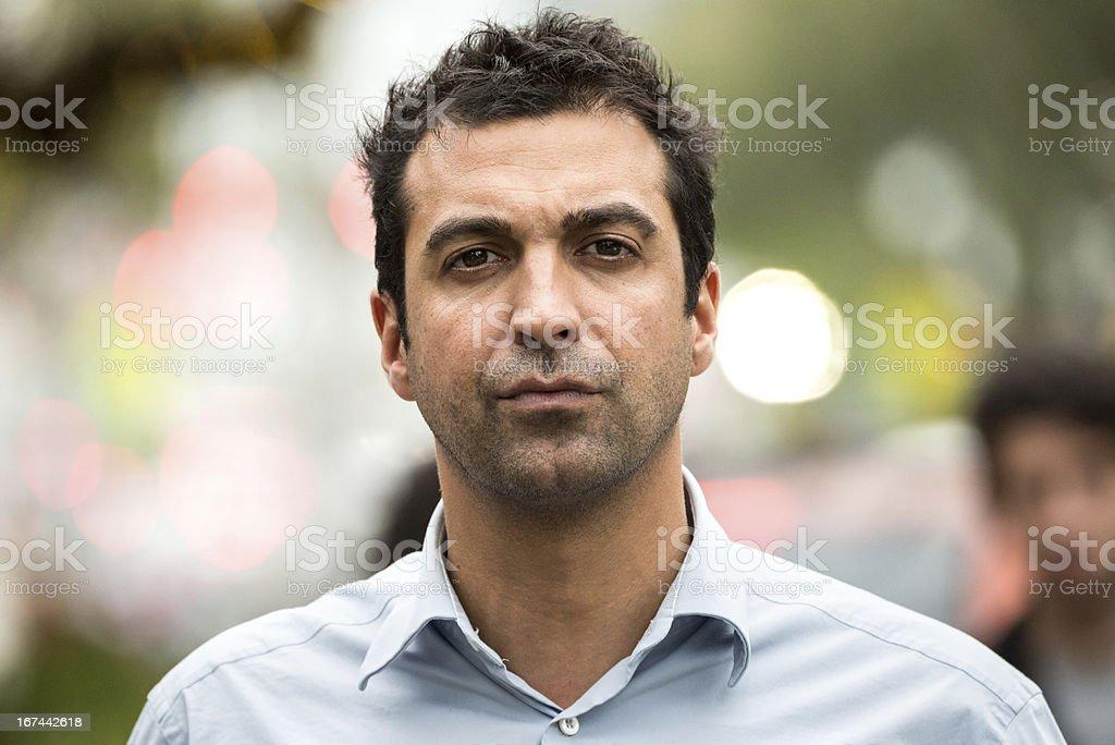 Serious man stock photo