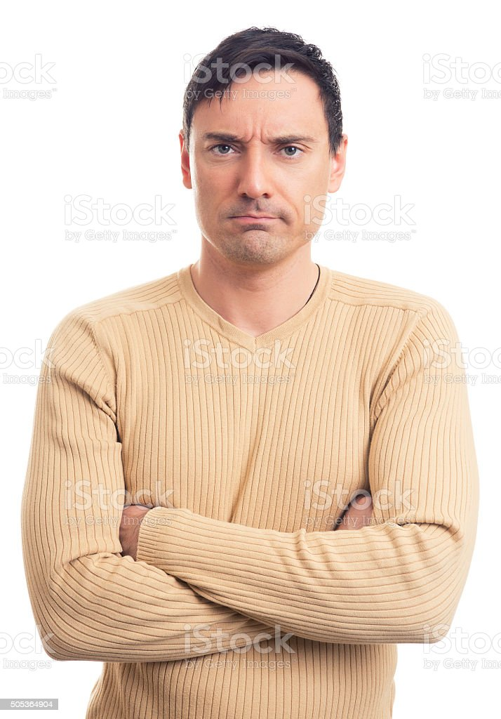 Serious man stock photo