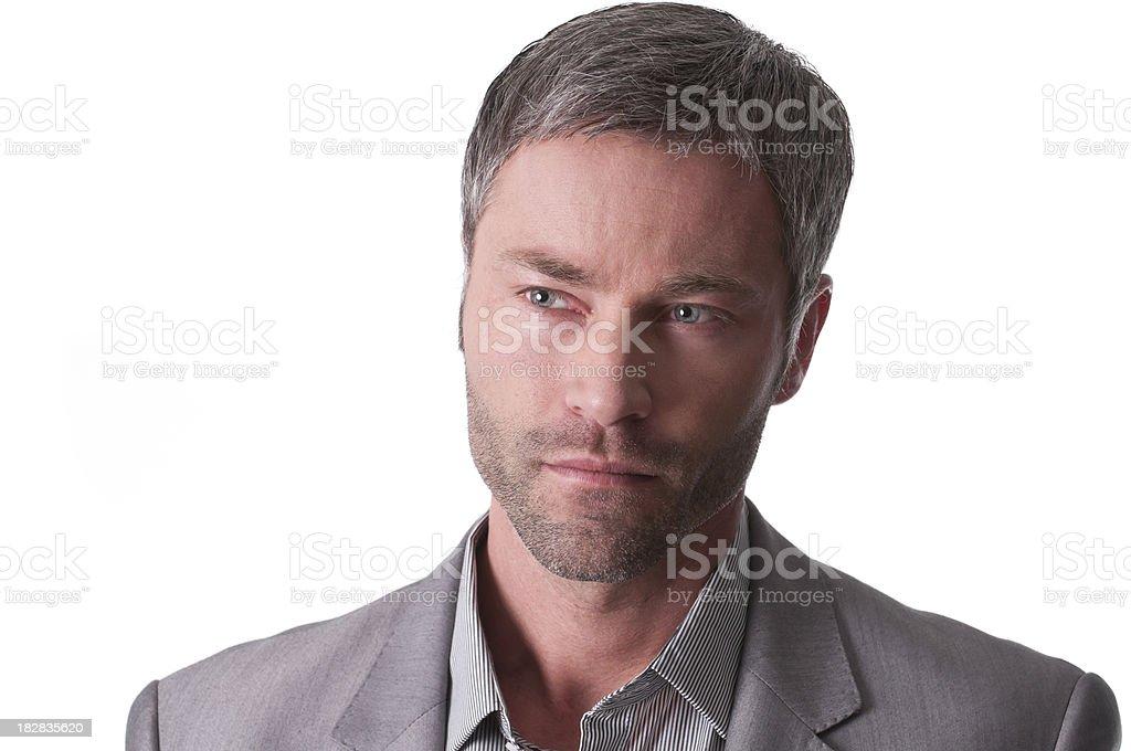 serious man portrait royalty-free stock photo