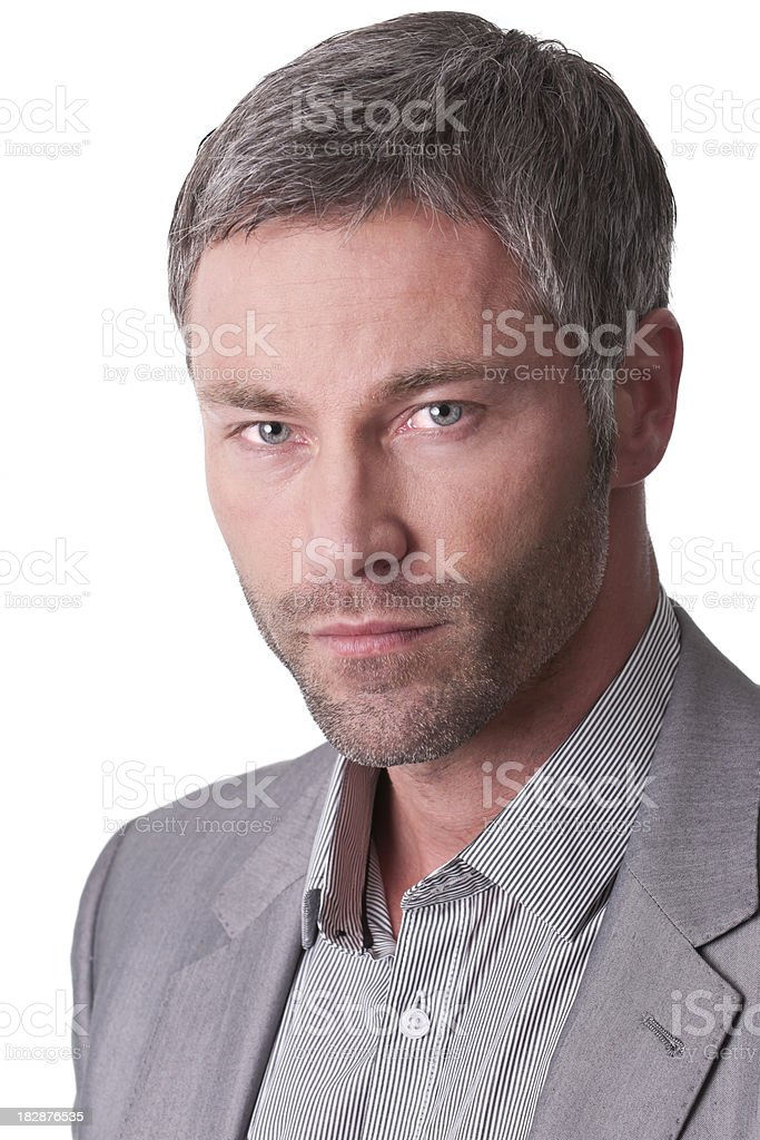 serious man portrait royalty-free stock photo