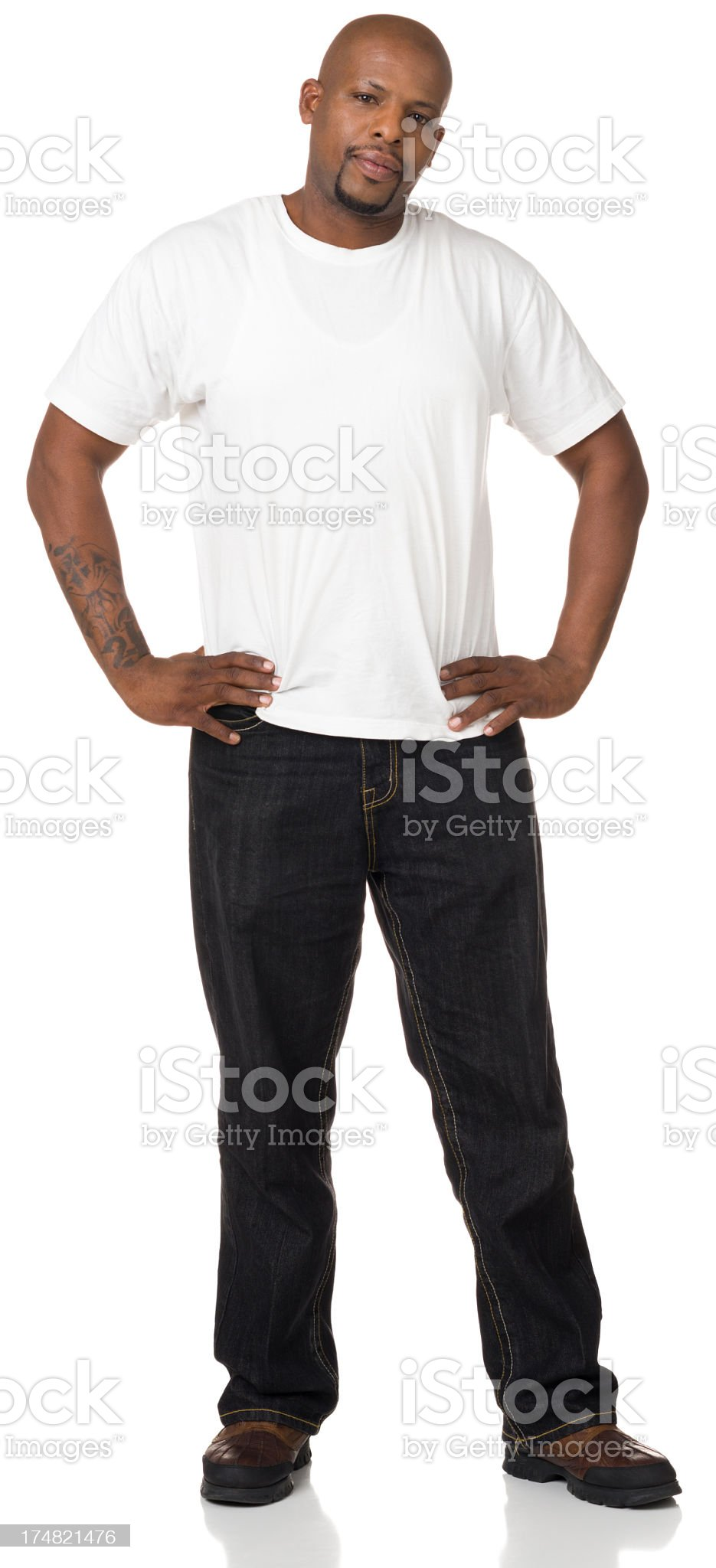 Serious Man Standing Portrait royalty-free stock photo