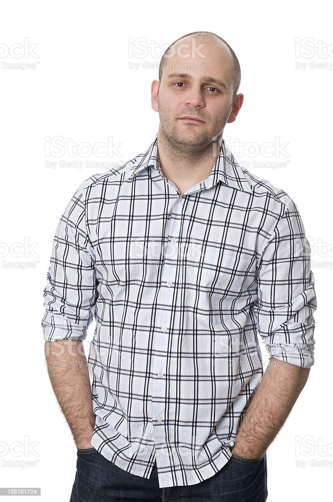 serious man with hands in pockets royalty-free stock photo