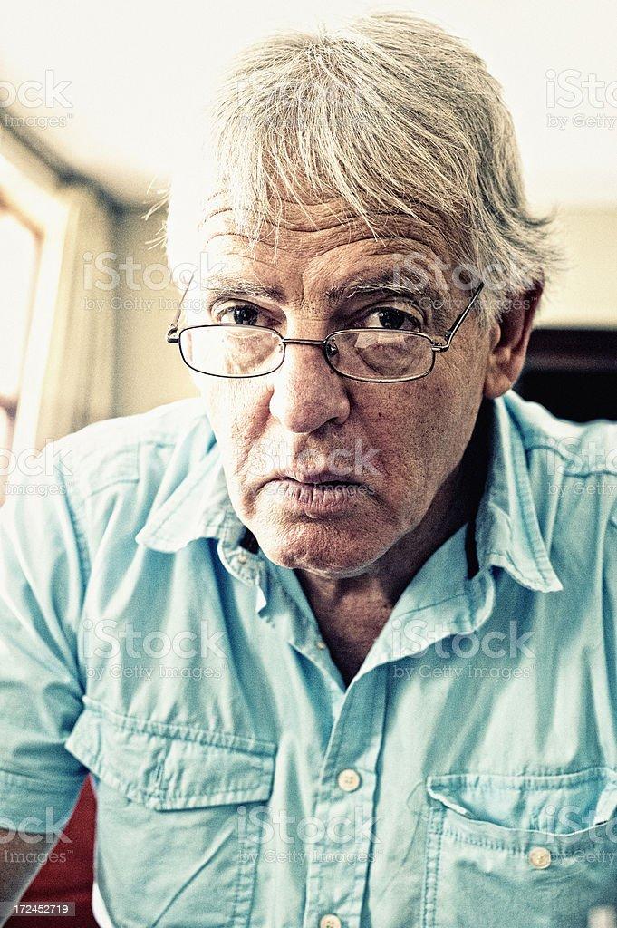 Serious Mature Man stock photo