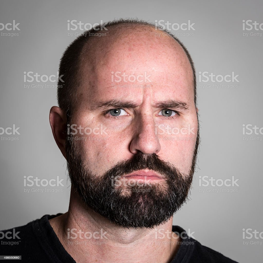 Serious Mature man stock photo
