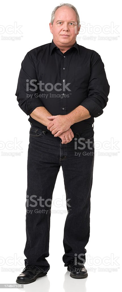 Serious Mature Man Standing Portrait royalty-free stock photo