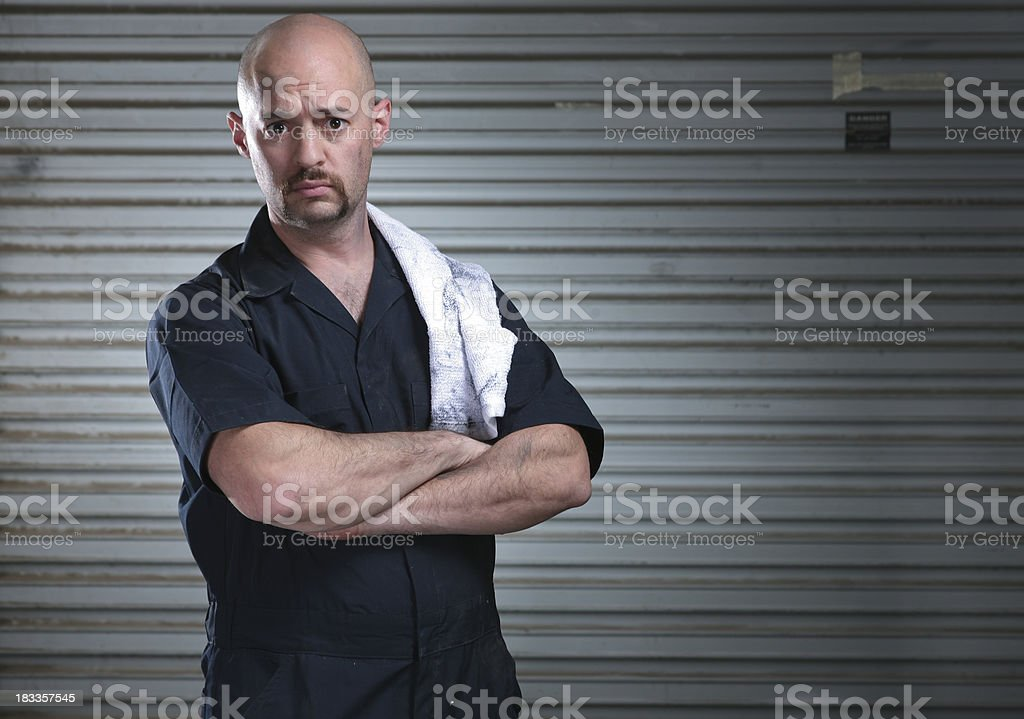 Serious Mechanic royalty-free stock photo