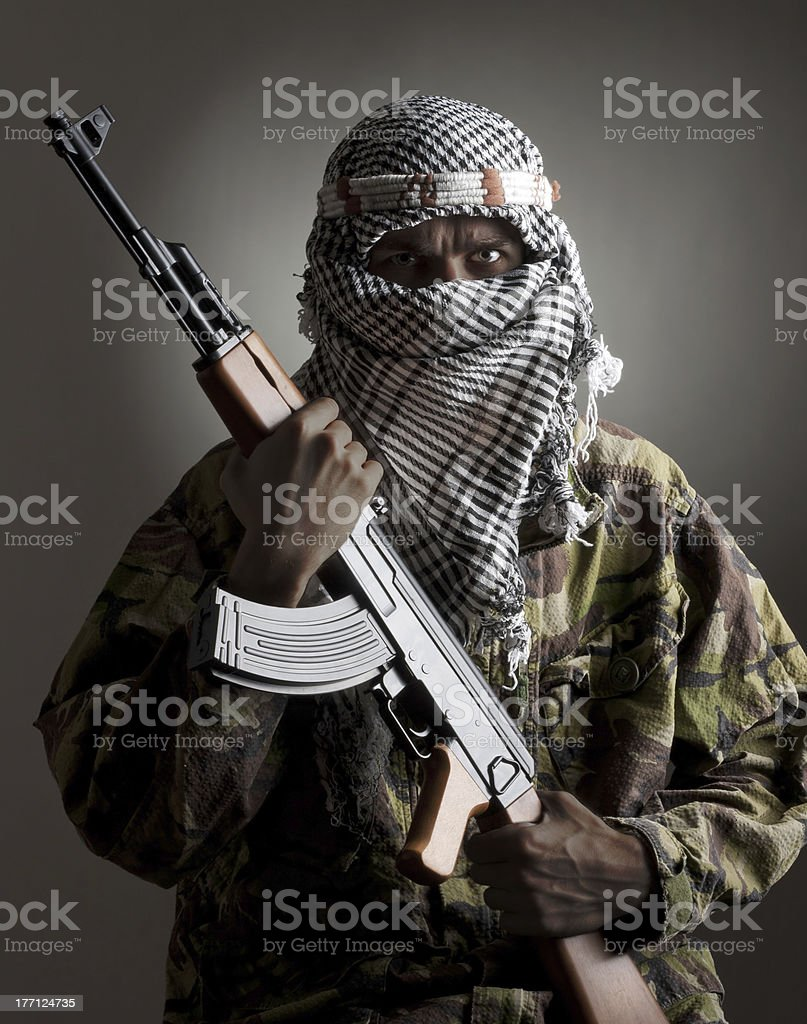 Serious middle eastern man stock photo