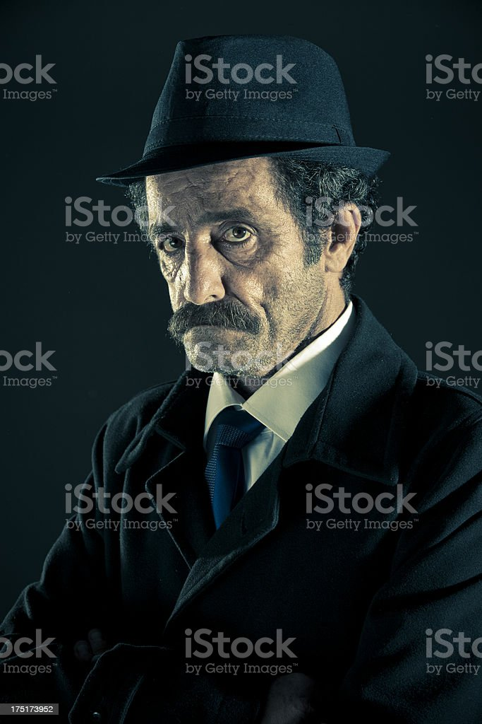 Serious old man royalty-free stock photo
