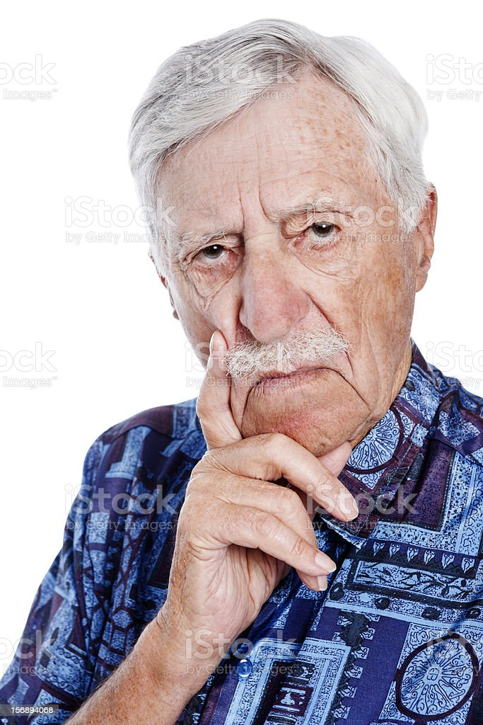 Serious old man seriously disapproves of something! royalty-free stock photo