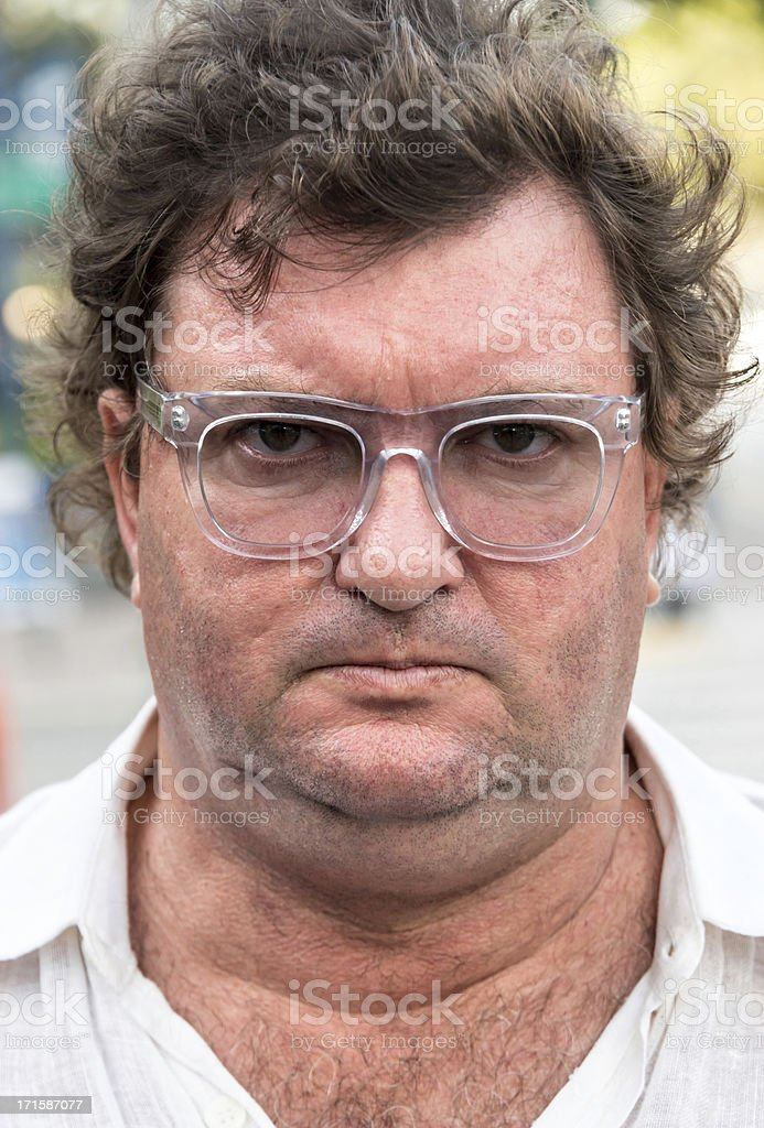 Serious overweight man royalty-free stock photo