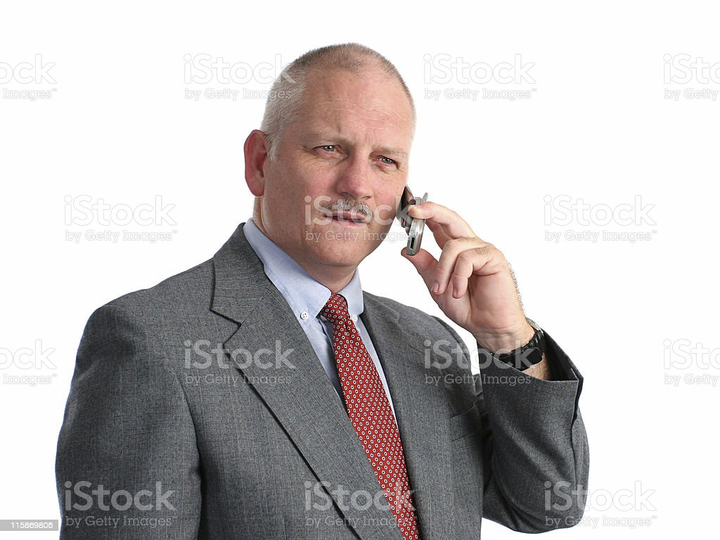 Serious Phone Call royalty-free stock photo