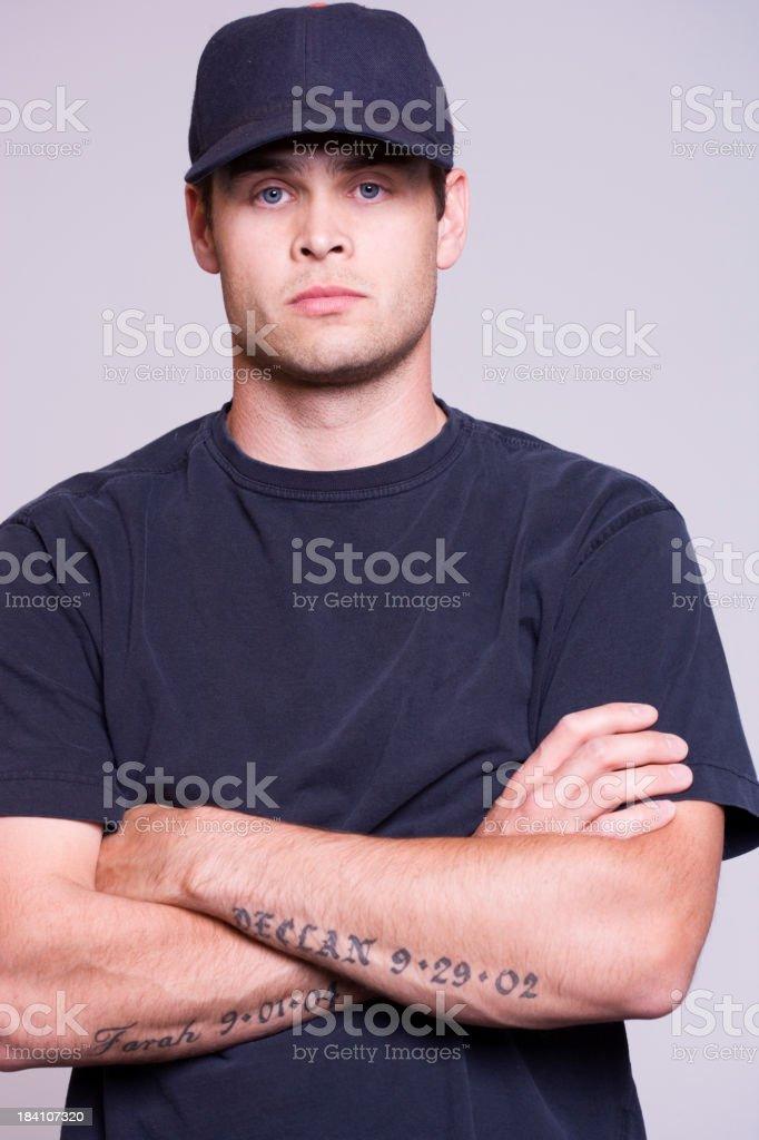 Serious stock photo