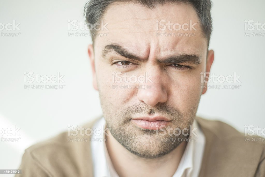 Serious stock photo
