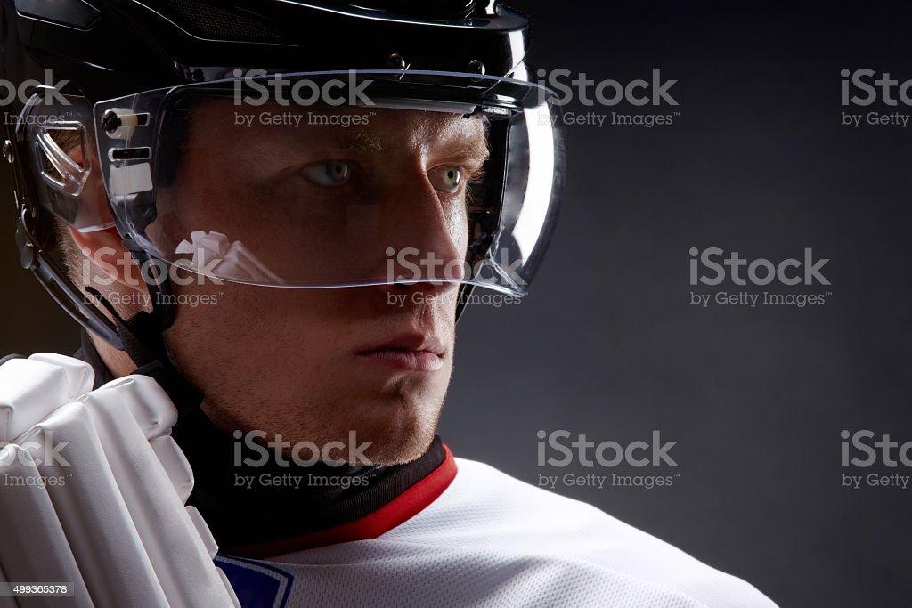 Serious player stock photo