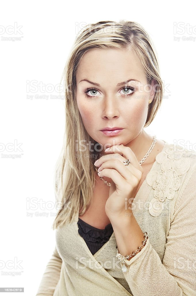 serious portrait of woman royalty-free stock photo
