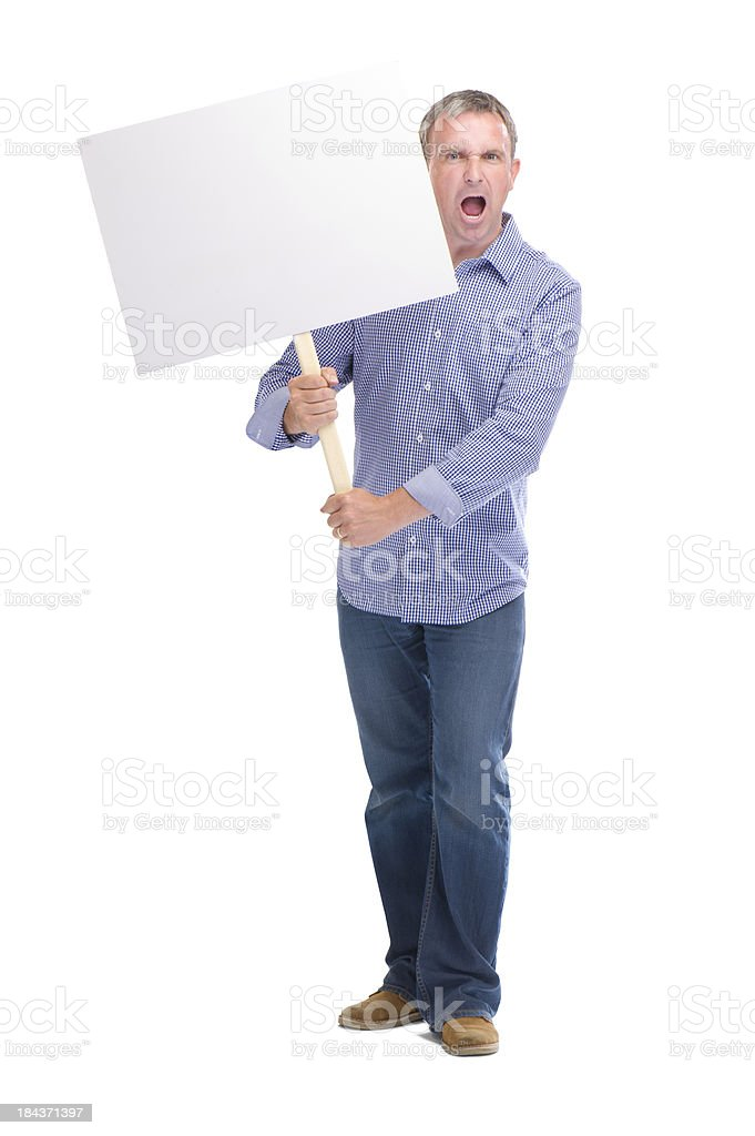 serious protester royalty-free stock photo