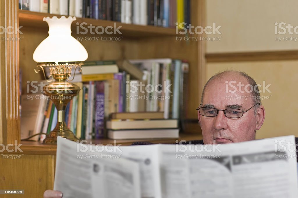 Serious Read royalty-free stock photo