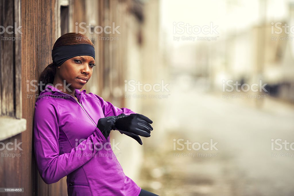 Serious Runner stock photo
