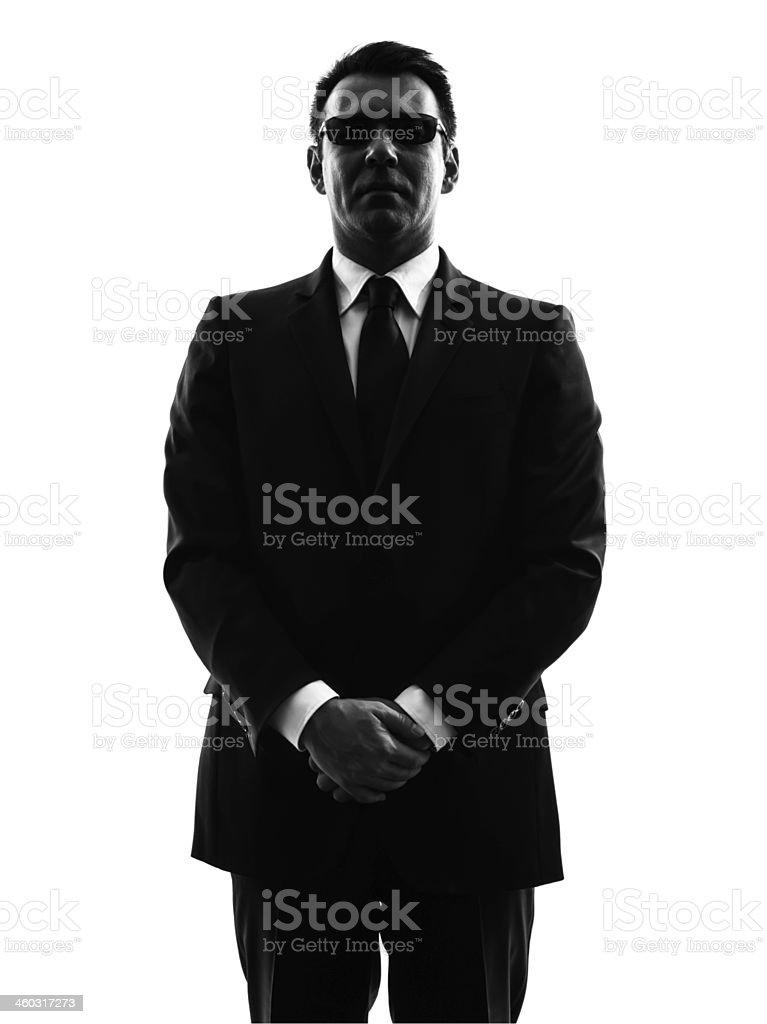 Serious secret service bodyguard man stock photo