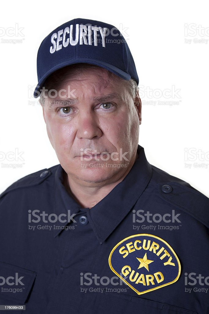 Serious Security Guard royalty-free stock photo