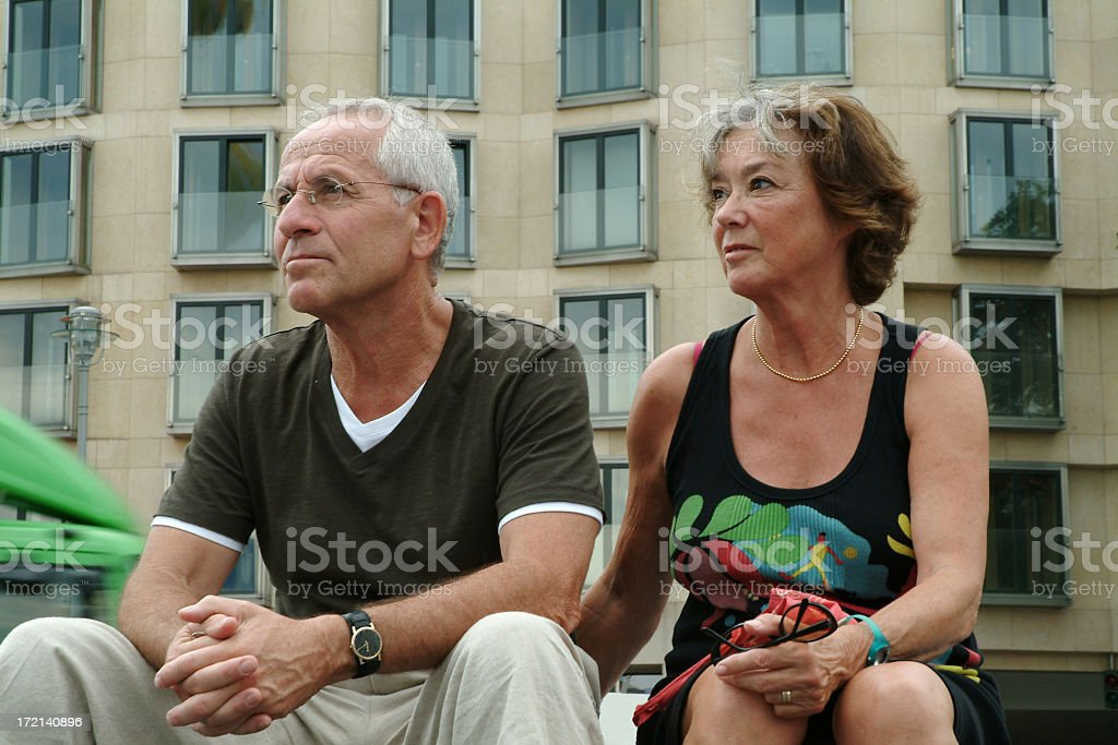 Serious senior couple royalty-free stock photo