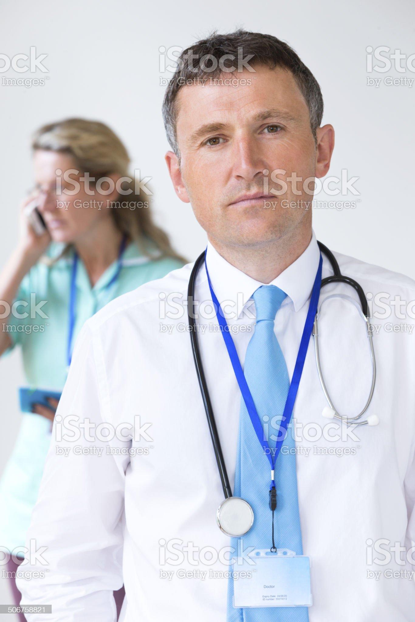Serious Senior Doctor royalty-free stock photo