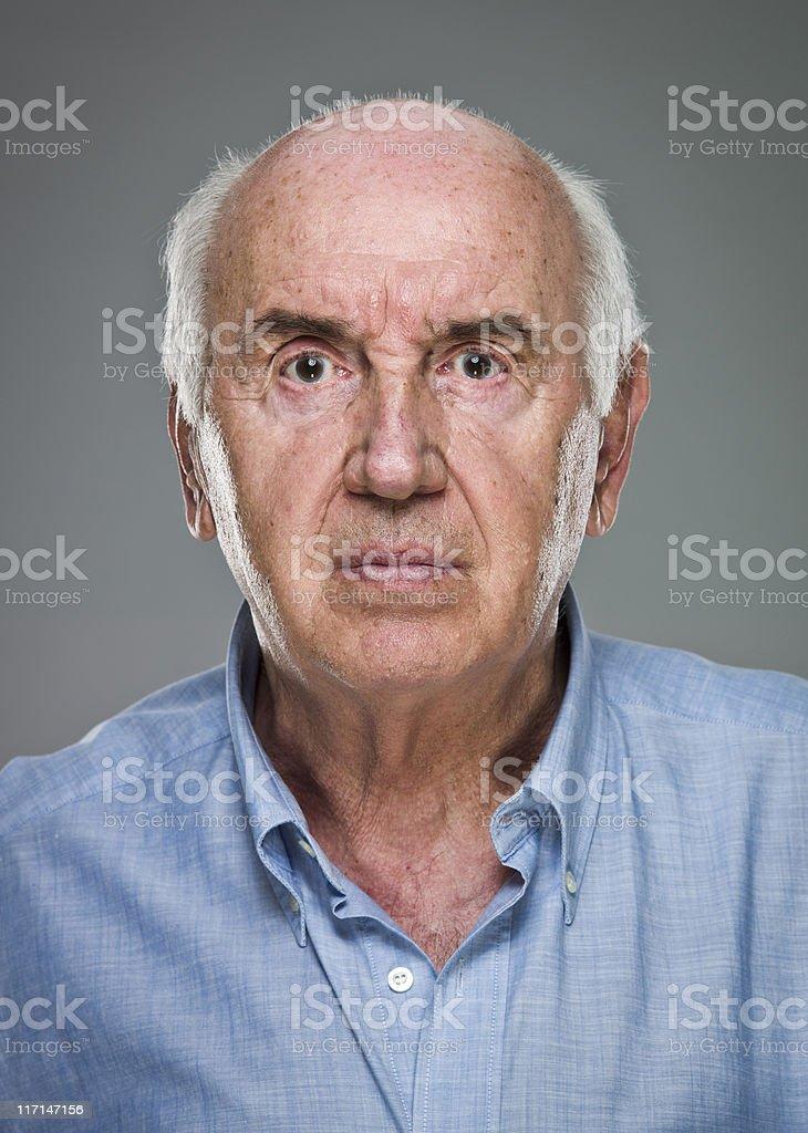 Serious Senior Man (real people) royalty-free stock photo