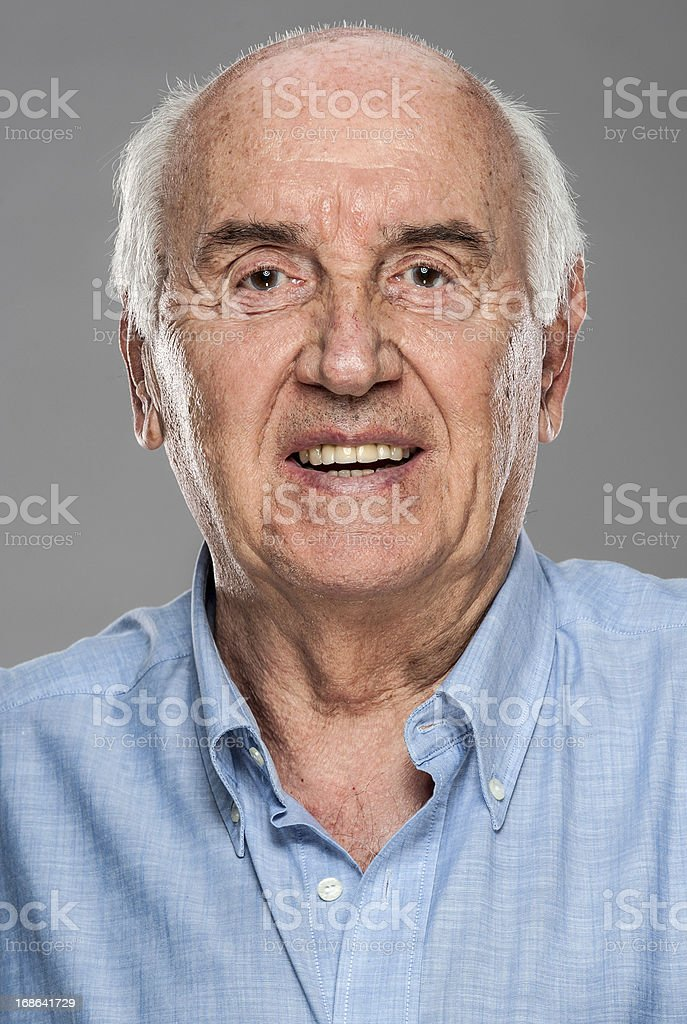 Serious Senior Man (real people) royalty-free stock photo