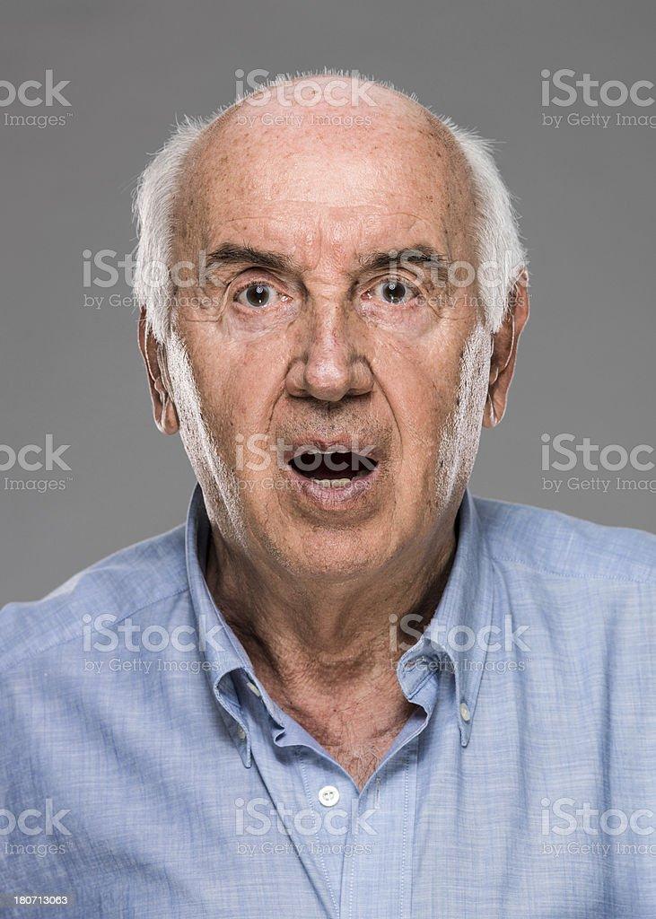 Serious Senior Man (real people) stock photo