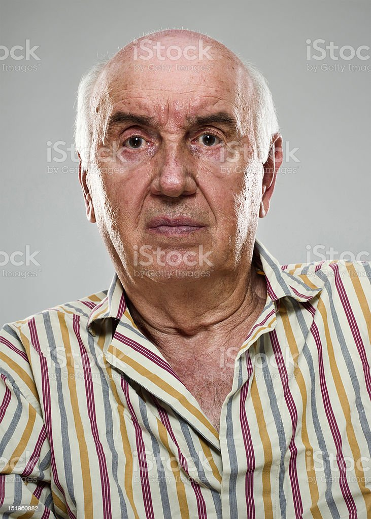 Serious Senior Patient (real people) royalty-free stock photo
